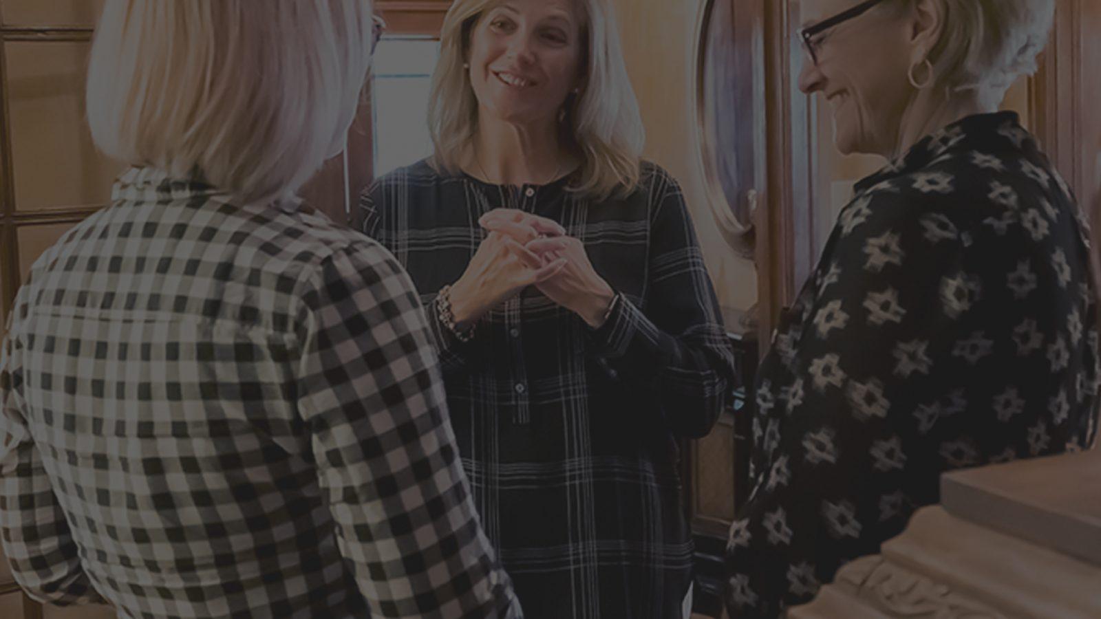 3 women talking