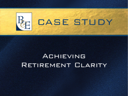 Achieving Retirement Clarity