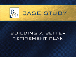 Building A Better Retirement Plan