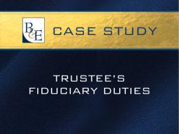 Trustee's Fiduciary Duties