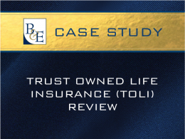 Trust Owned Life Insurance