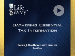 Gathering essential tax info